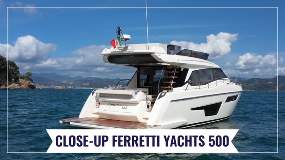 Ferretti Yachts 500 - Close-up