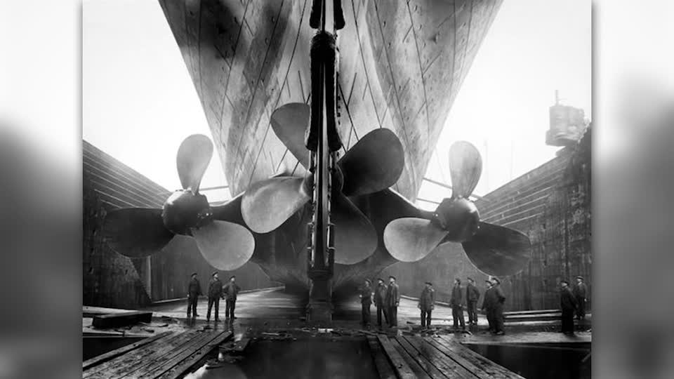 Titanic's Three Bladed Propeller