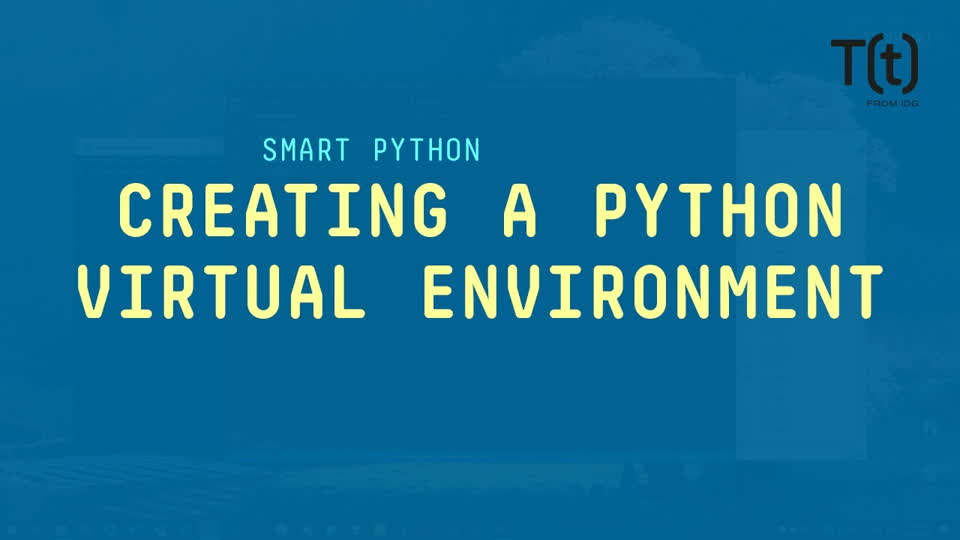Creating a Python virtual environment for a new project