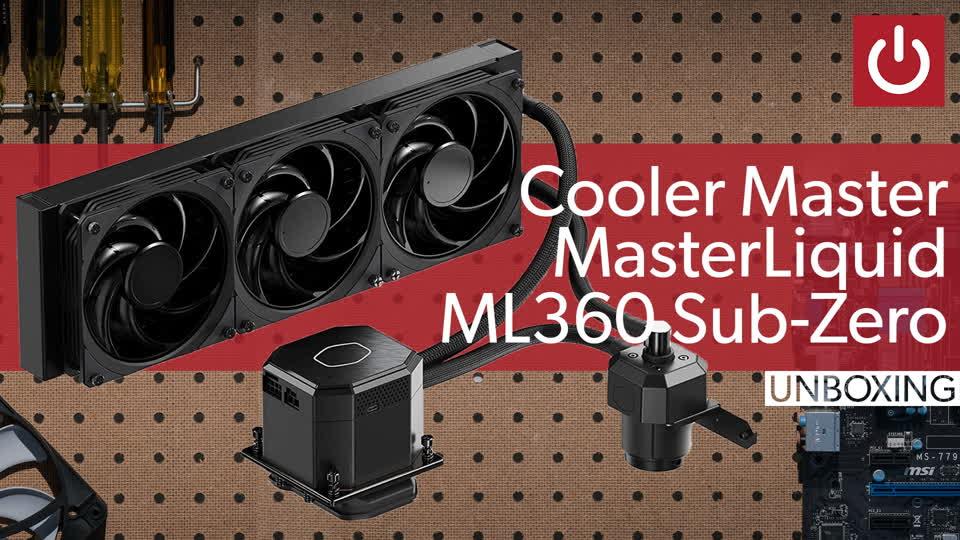 Cooler Master's MasterLiquid ML360 Sub-Zero AIO cooler is simple to install
