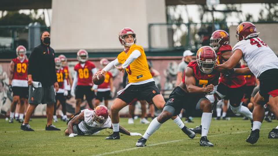 Catch a first glance at the 2021 Trojans at the USC Football Spring Showcase on Pac-12 Network