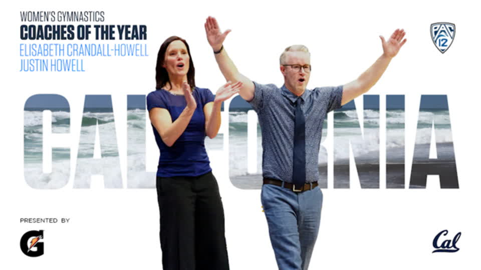 Justin Howell and Elisabeth Crandall-Howell win Pac-12 Women's Gymnastics Coaches of the Year award