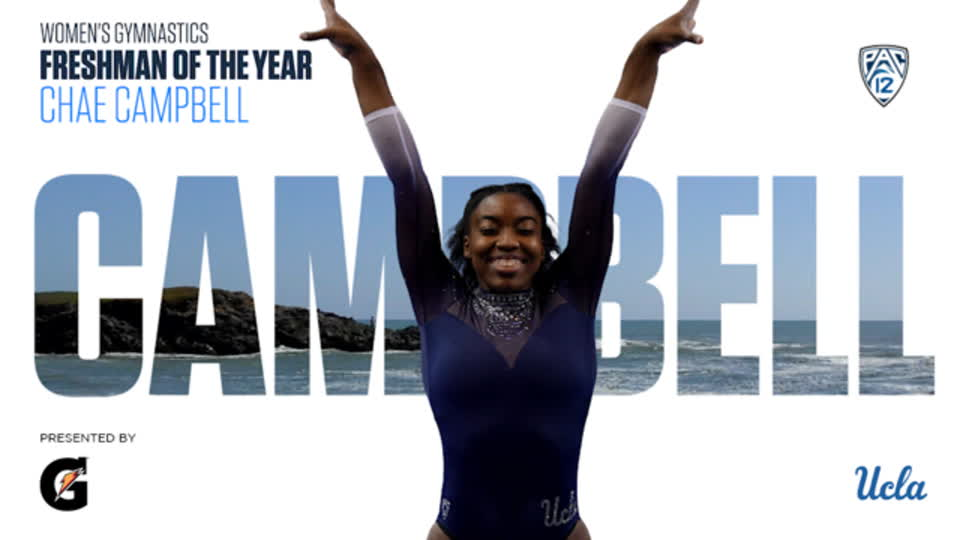 UCLA's Chae Campbell wins Pac-12 Women's Gymnastics Freshman of the Year accolades