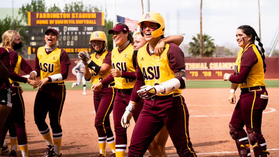 Recap: No. 13 Arizona State softball sweeps Territorial Cup series versus No. 8 Arizona with walk-off, extra-innings win