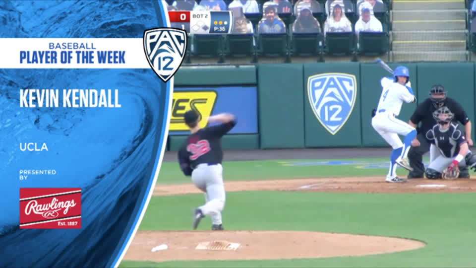 UCLA's Kevin Kendall wins Pac-12 Baseball Player of the Week - April 19, 2021