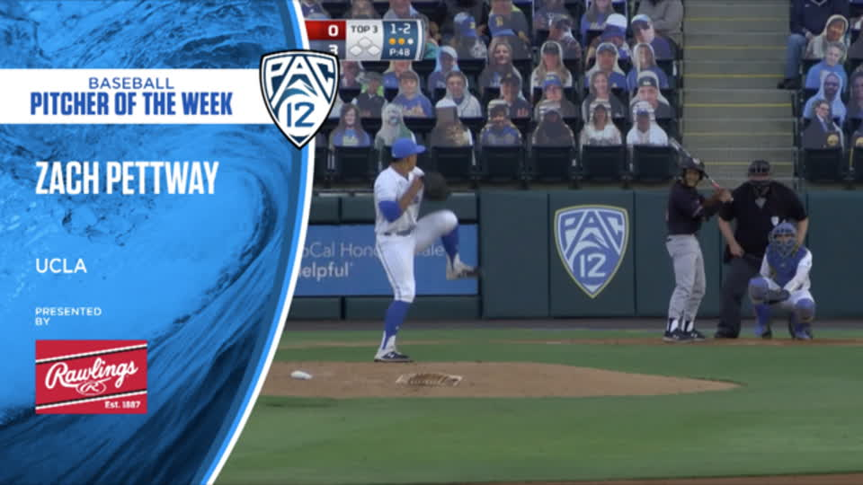 UCLA's Zach Pettway wins Pac-12 Baseball Pitcher of the Week - April 19, 2021