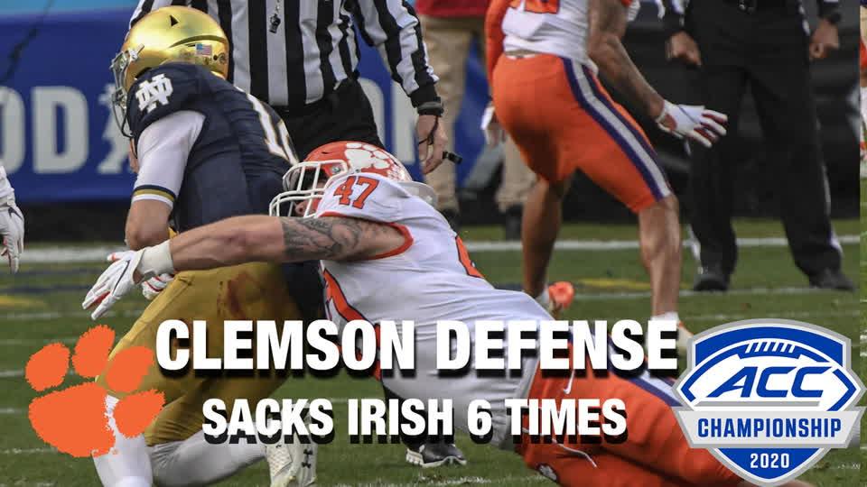 Clemson Defense Sacks Fighting Irish 6 Times