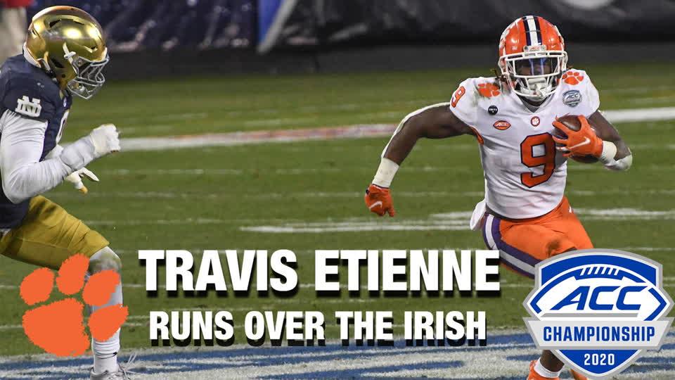 Clemson RB Travis Etienne Runs Over Irish