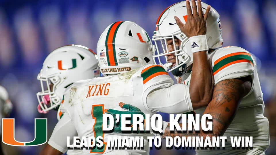 D'Eriq King Leads Miami To Dominant Win