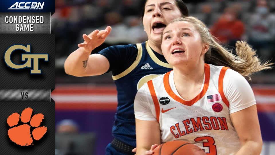Georgia Tech vs. Clemson Condensed Game | 2020-21 ACC Women's Basketball