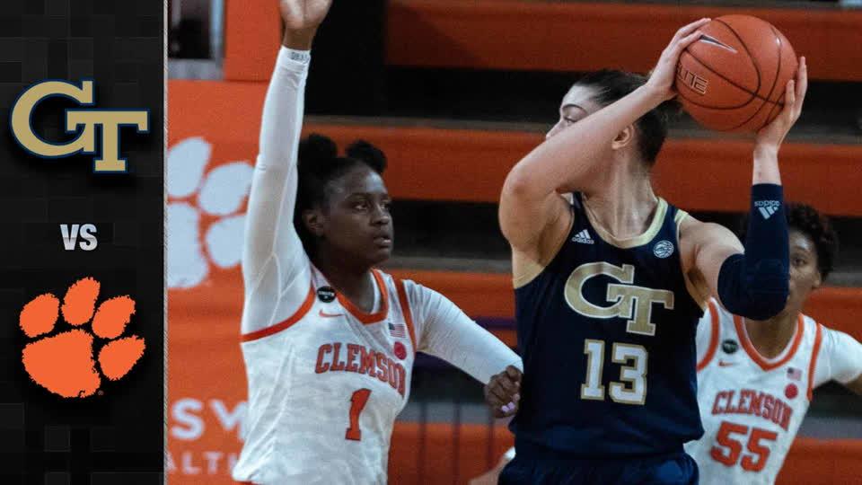 Georgia Tech vs. Clemson Women's Basketball Highlights (2020-21)