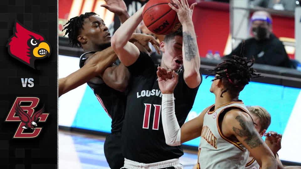 Louisville vs. Boston College Men's Basketball Highlights (2020-21)