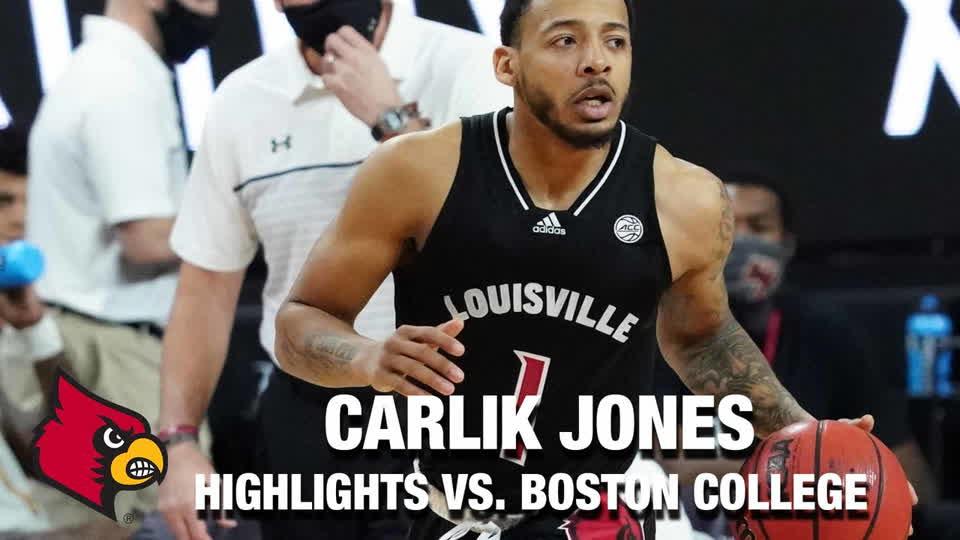Louisville's Carlik Jones Scorin' & Dishin' Versus Boston College