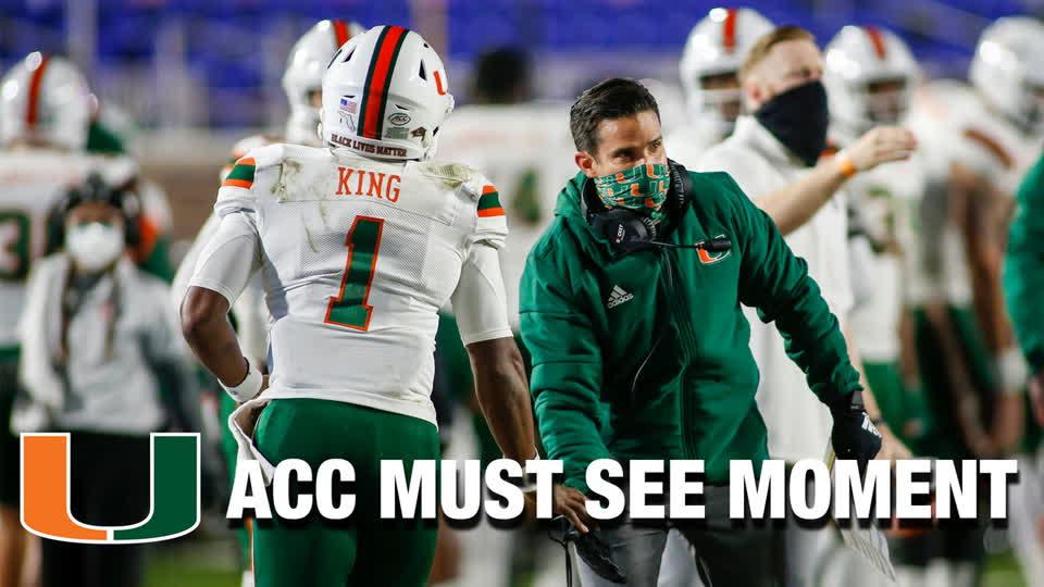 Miami QB D'Eriq King Trucks His Way Across The Goal Line | ACC Must See Moment
