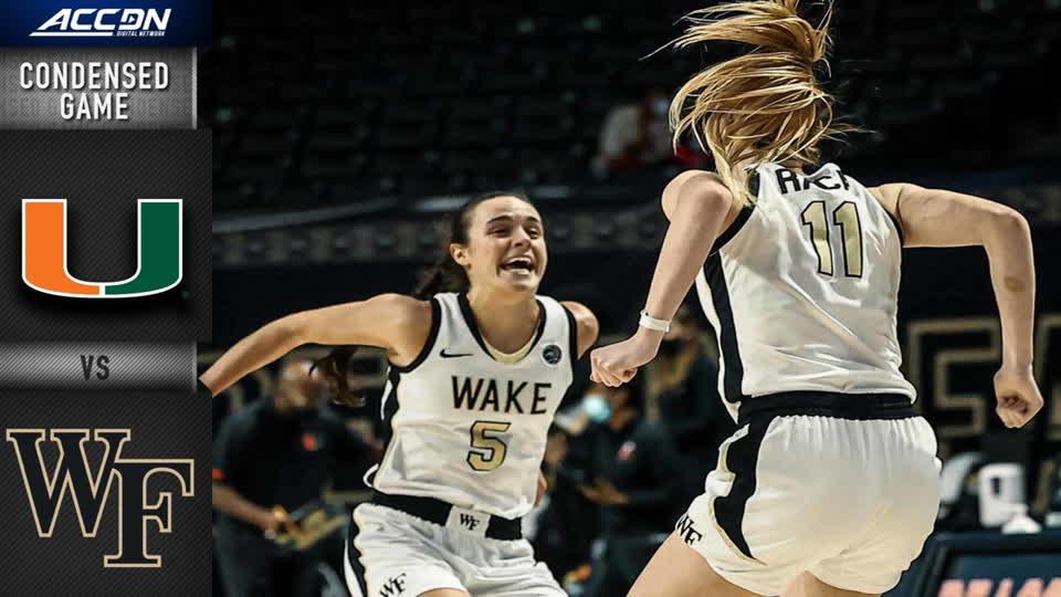 Miami vs. Wake Forest Condensed Game | 2020-21 ACC Women's Basketball