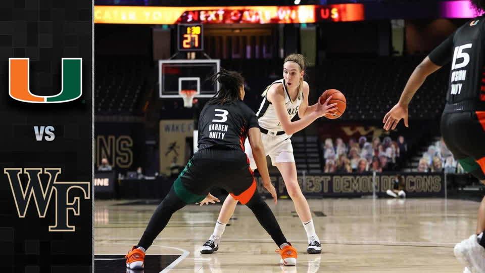 Miami vs. Wake Forest Women's Basketball Highlights (2020-21)