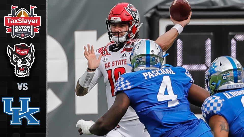 N.C. State vs. Kentucky Taxslayer Gator Bowl Highlights (2020)