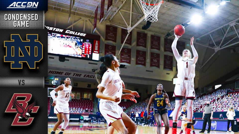Notre Dame vs. Boston College Condensed Game | 2020-21 ACC Women's Basketball