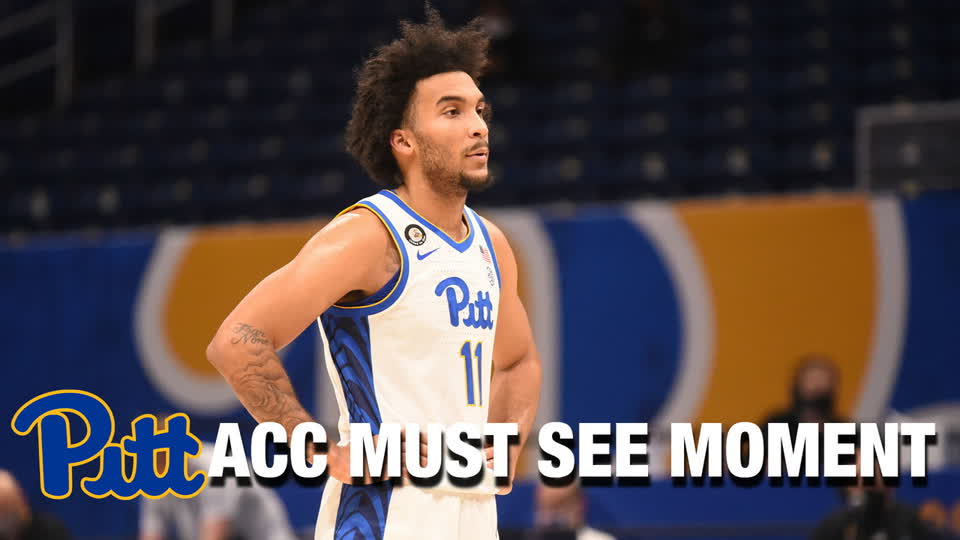 Pittsburgh's Justin Champagnie Hammers The Rim| ACC Must See Moment