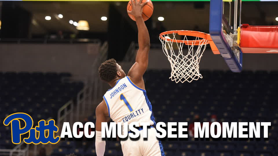 Pittsburgh's Xavier Johnson Throws It Down In Transition| ACC Must See Moment