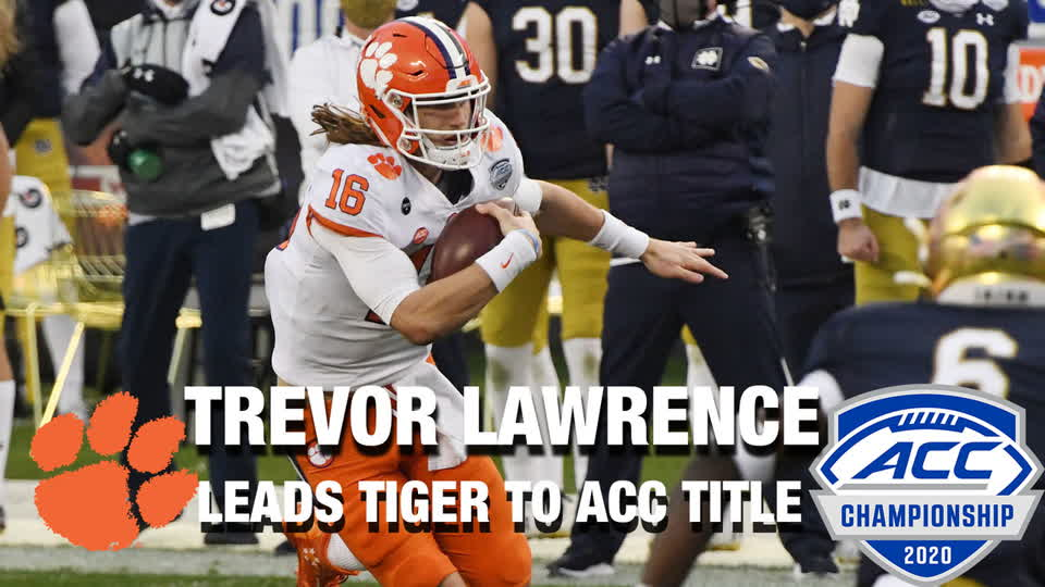 QB Trevor Lawrence Leads Clemson To Another ACC Title