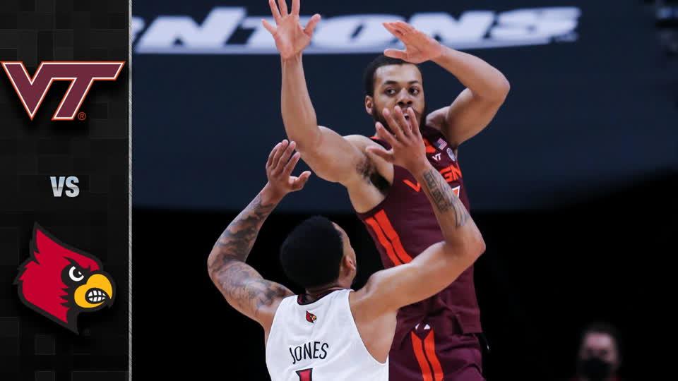 Virginia Tech vs. Louisville Men's Basketball Highlight (2020-21)