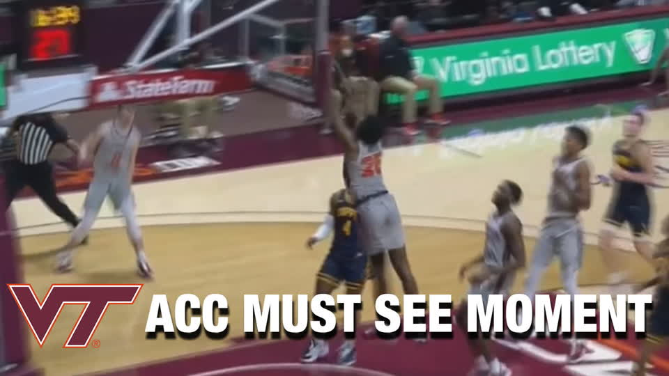 Virginia Tech's Justyn Mutts And Hunter Cattoor Hook Up On Sick Lob | ACC Must See Moment