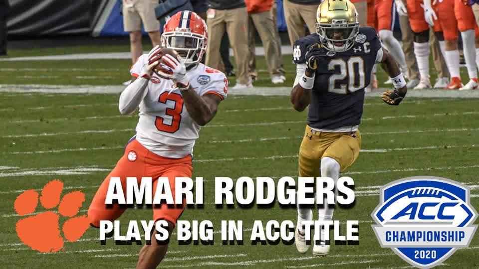 WR Amari Rodgers Plays Big For Clemson