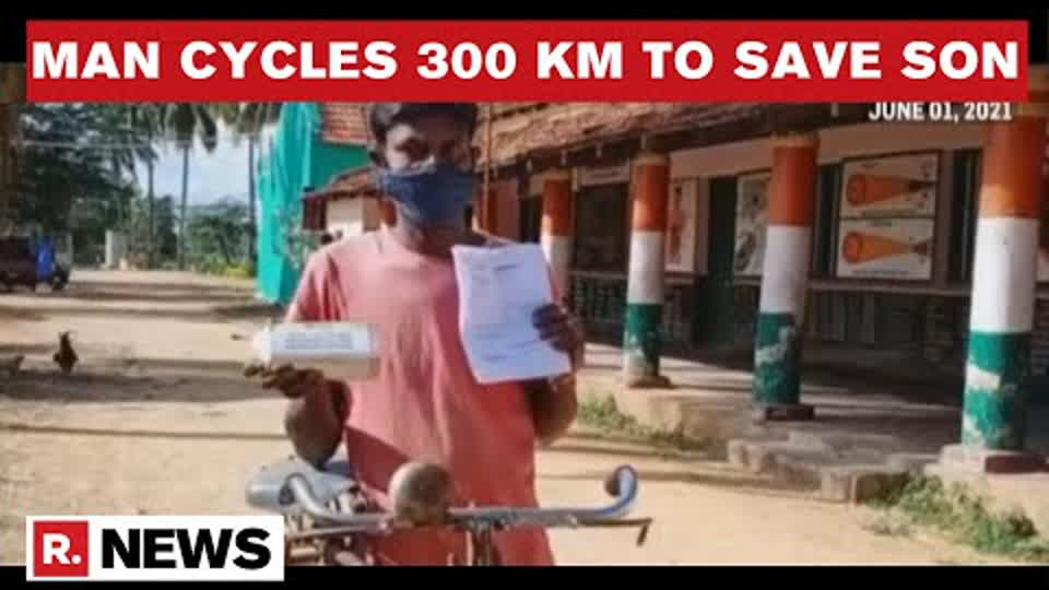 Karnataka: Father Cycles For 300 KM To Bengaluru From Village To Procure Prescribed Drug To Save Son