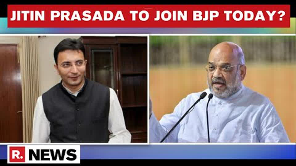 Congress Leader Jitin Prasada Arrives At Home Minister Amit Shah's Residence Ahead Of Joining BJP