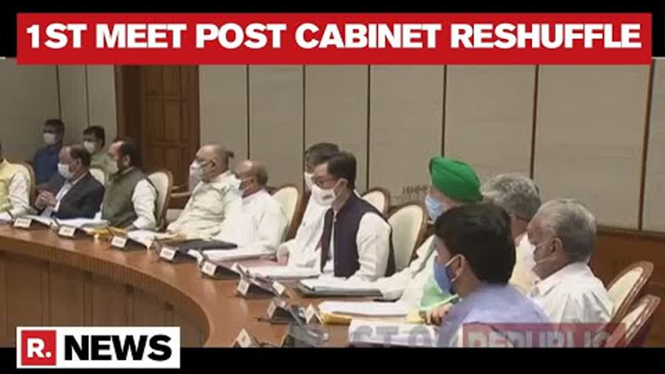 Union Cabinet Holds First Physical Meeting After Inducting New Ministers | Republic TV