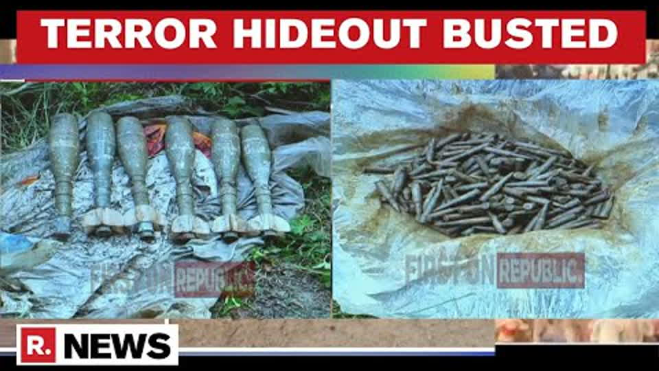 J&K: Forces Bust Terror Hideout in Tral, Live Ammunition Recovered   Republic TV