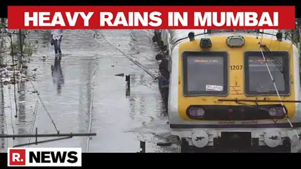 Mumbai: Heavy Rains Lash Parts Of The City; Local Train Services Hit Due To Water-Logging