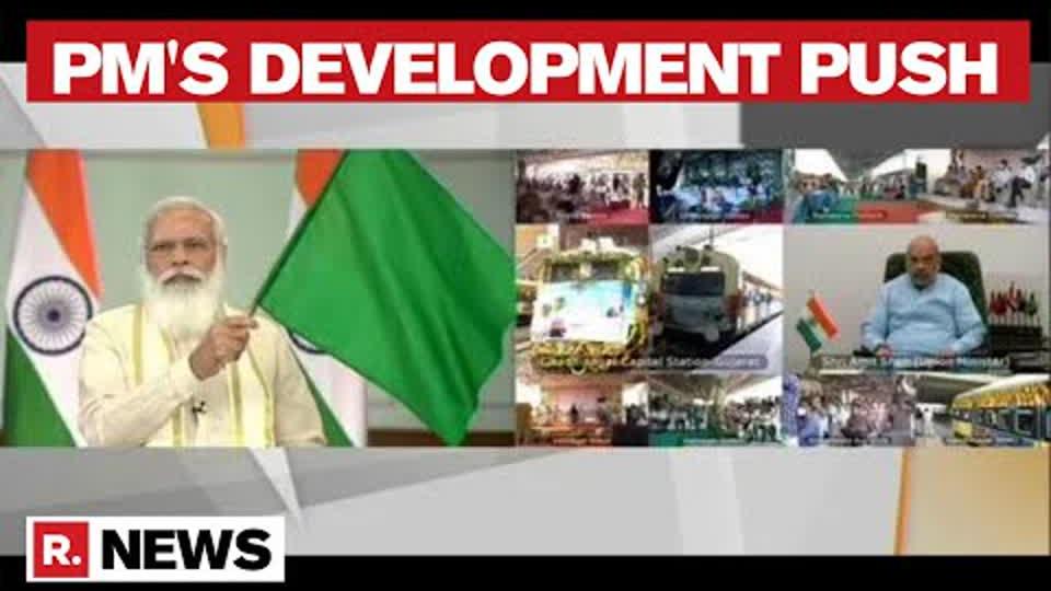 PM Modi Inaugurates 5-Star Gandhinagar Railway Station, New Zones In Gujarat Science City