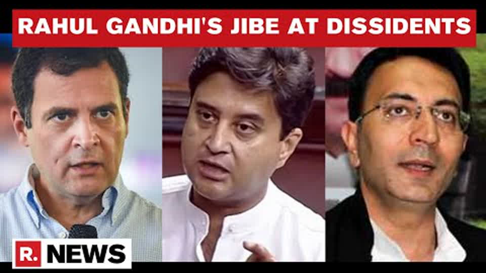 Rahul Gandhi's Message To Scindia, Prasada: 'Run to RSS, Congress Doesn't Need You' | Republic TV