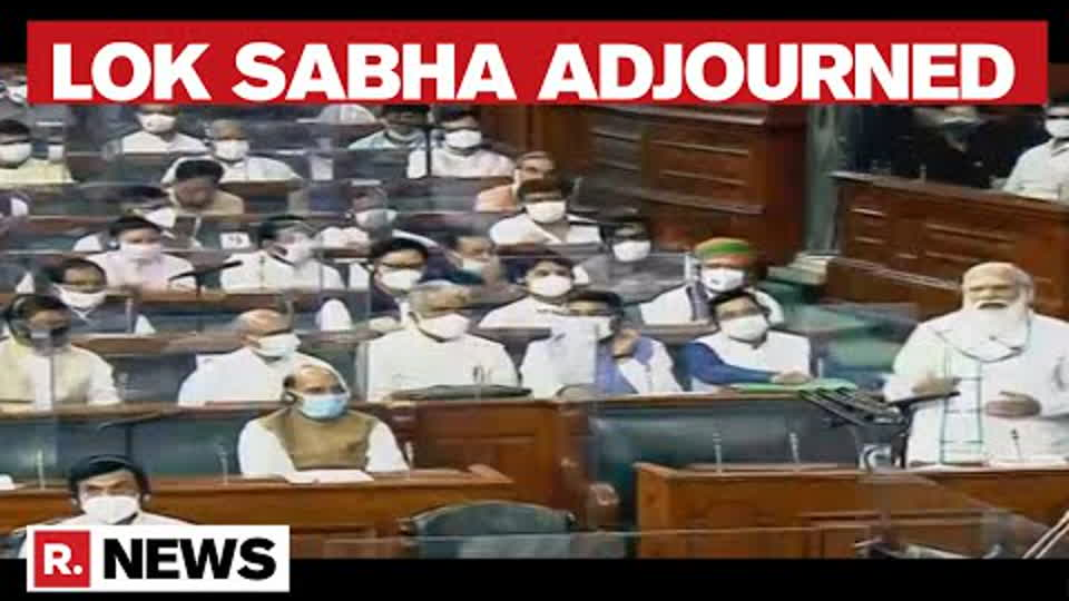 Lok Sabha Adjourned Till 2 PM Amid Uproar By Opposition MPs  | Parliament Monsoon Session