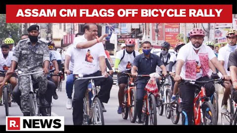 Assam: CM Himanta Sarma Flags Off Bicycle Rally To Back Lovlina Borgohain's Olympics Stint