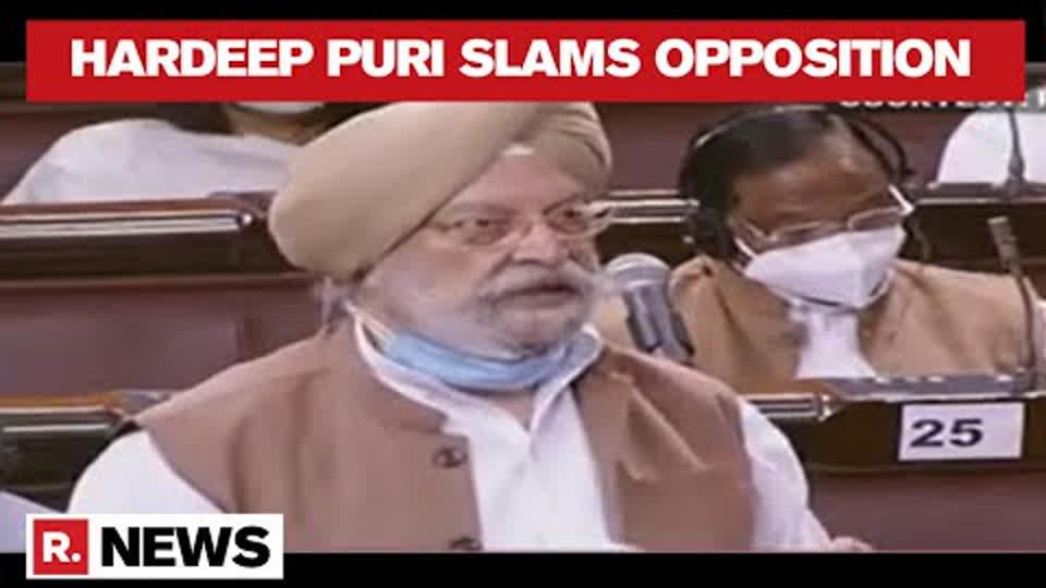 Hardeep Puri Bludgeons Opposition In Rajya Sabha On Vaccine Hesitancy & COVID Politics