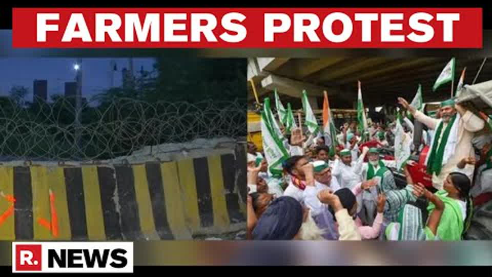 Delhi Police Barricade Jantar Mantar, Barbed Wires At Singhu For Farmers' Daily Protest