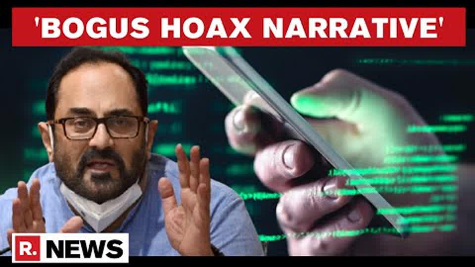 IT MoS Rajeev Chandrashekhar Reacts To Pegasus 'Snoopgate' Row, Calls It A 'Bogus Narrative'