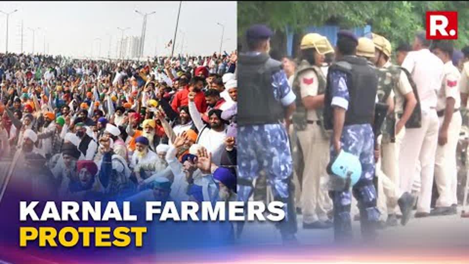 Haryana: Farmers Protest Against Farm Laws In Karnal, Heavy Security Deployed