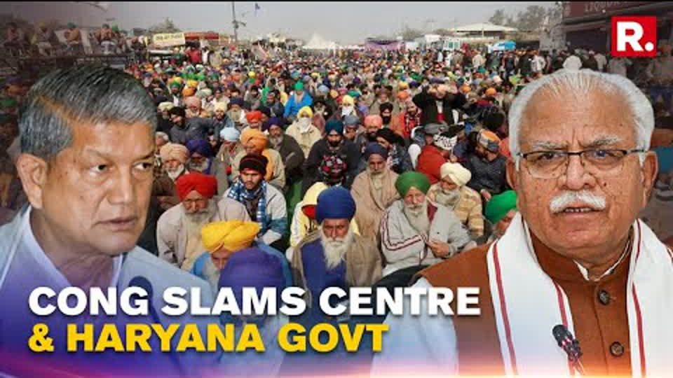Harish Rawat Speaks On BKS' MSP Demand, Haryana Govt's Action On Farmers Protest & Punjab Cong Rift