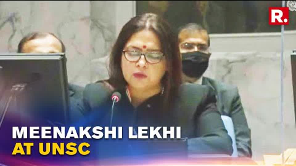 MoS MEA Meenakshi Lekhi Highlights India's Peacekeeping Efforts At UNSC