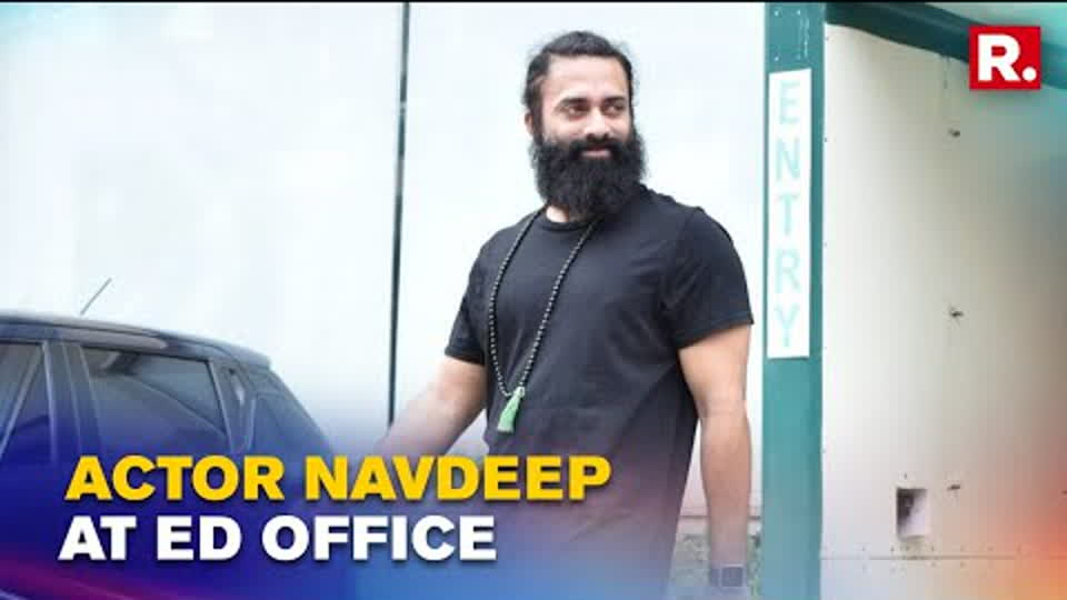Actor Navdeep Arrives At ED Office For Questioning In Connection With 2017 Tollywood Drugs Case