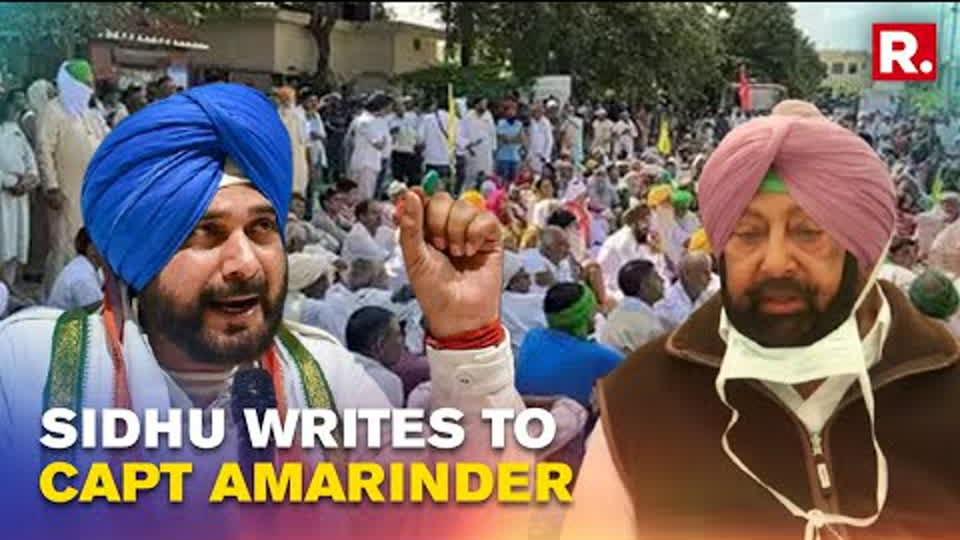'Must Do More': Sidhu Writes To Amarinder Singh; Urges Him To Fulfill Farmers' Demands