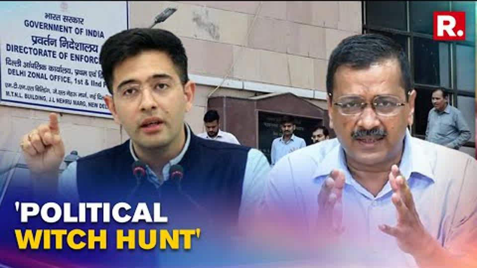 Raghav Chadha Claims Aam Aadmi Party Has Received Notice From ED; Alleges Witch Hunt