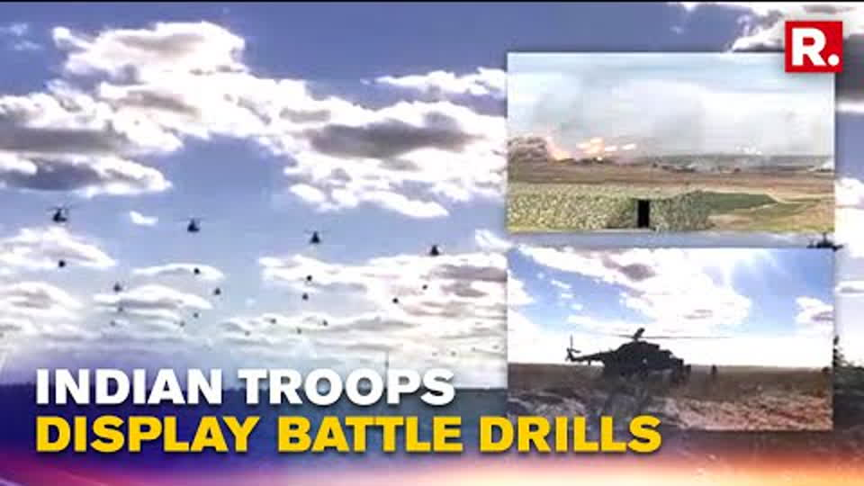 Indian Armed Forces Display Military Might As They Join Zapad-2021 Hosted By Russia | Republic TV