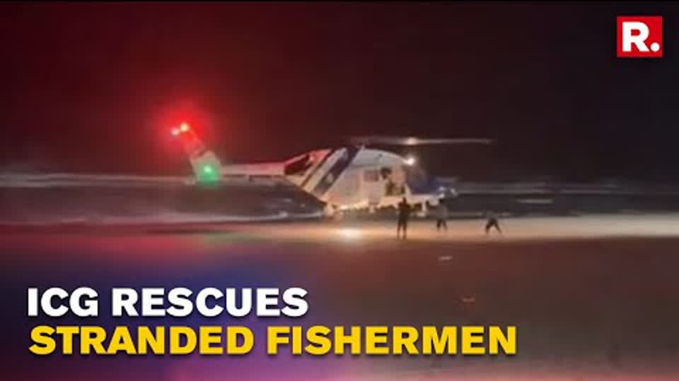 Indian Coast Guard Rescues Seven Fishermen Stranded Off The Coast Of Diu