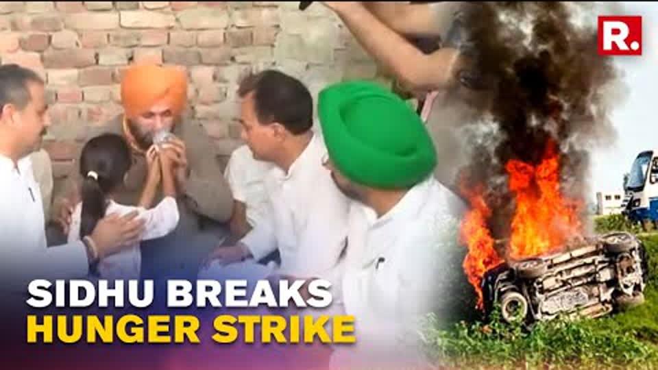 Navjot Singh Sidhu Breaks Hunger Strike Within 20 Hours