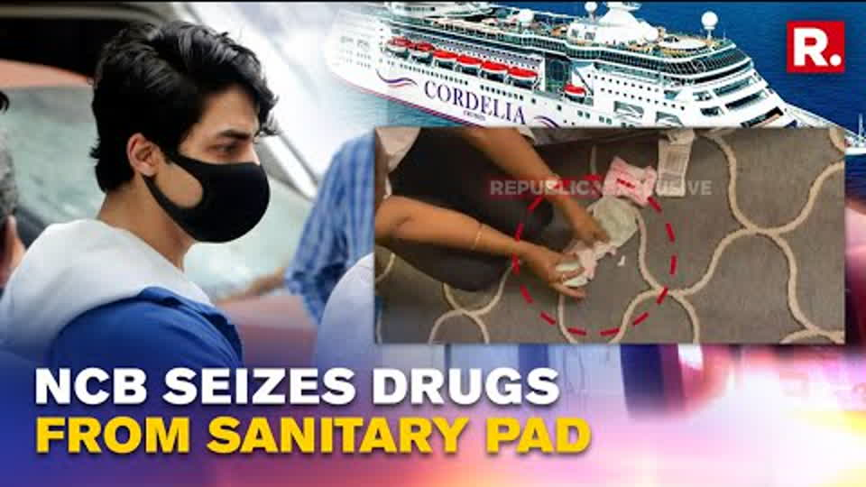 Video of NCB's cruise ship drug raid accessed: Material seen hidden in sanitary pad